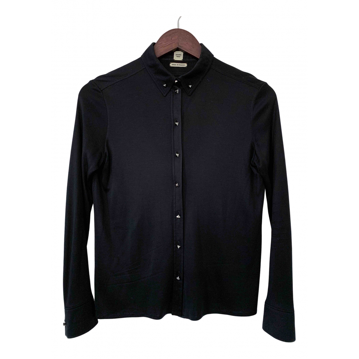 Hermès N Black Silk  top for Women 36 FR
