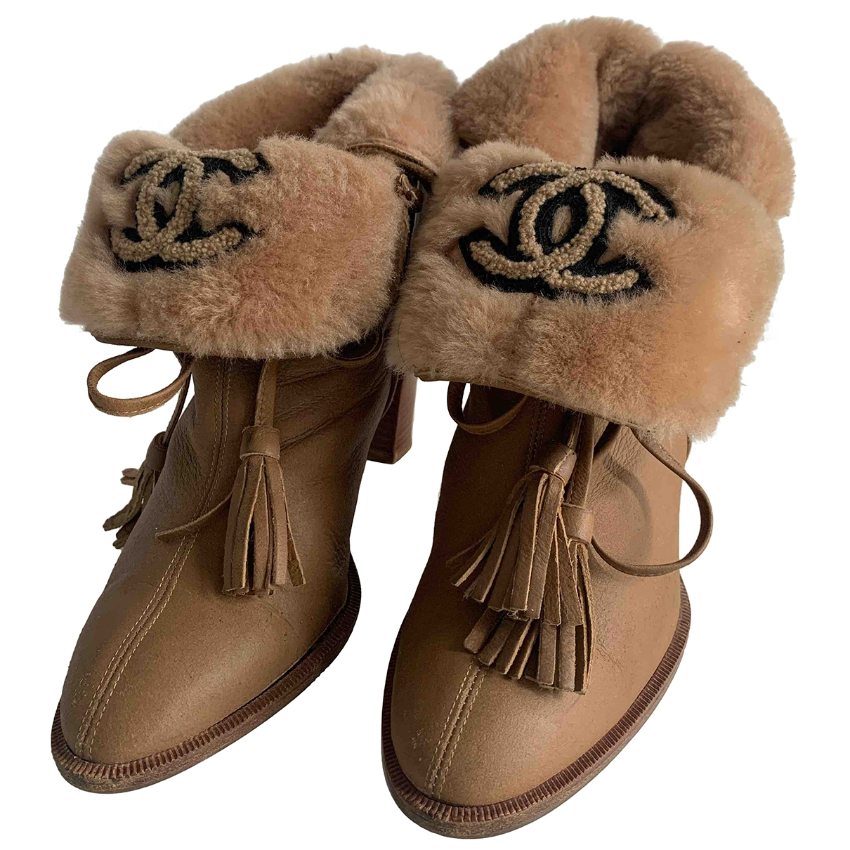Chanel \N Brown Leather Ankle boots for Women 38 EU