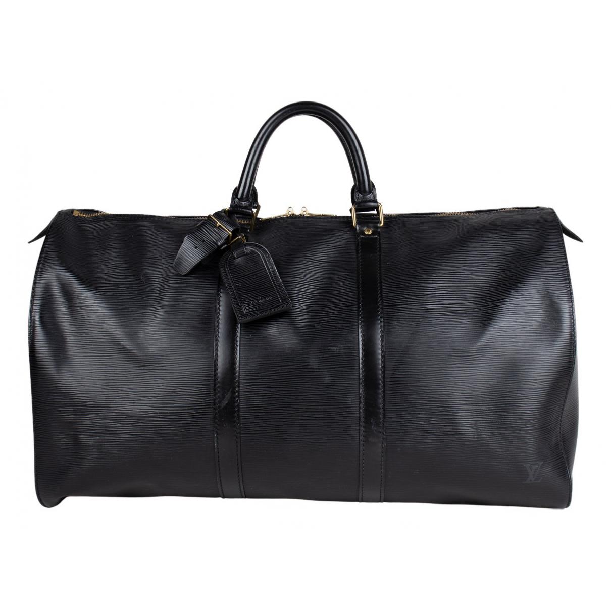 Bolso de viaje Keepall de Cuero Louis Vuitton