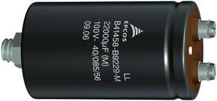 EPCOS 4700μF Electrolytic Capacitor 450V dc, Screw Mount - B43580C5478M