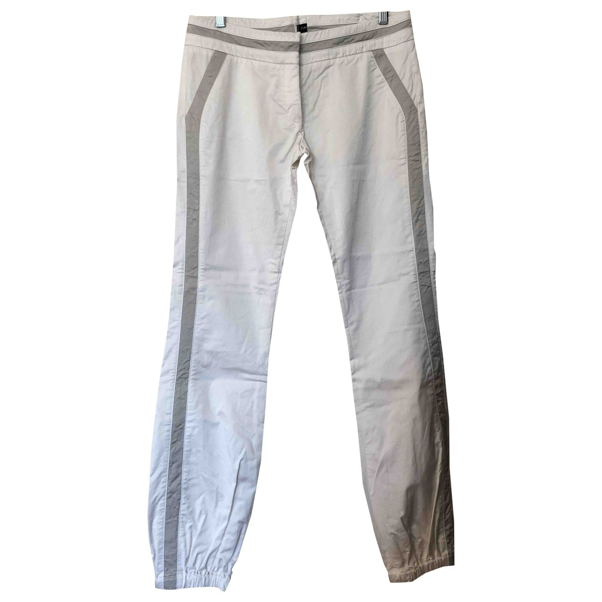 Flavio Castellani \N White Cotton Trousers for Women 44 IT