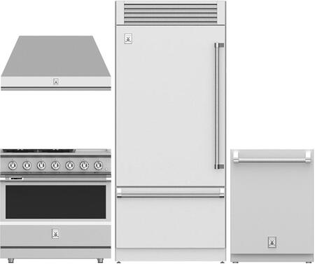4 Piece Kitchen Appliance Package with KRPL36 36