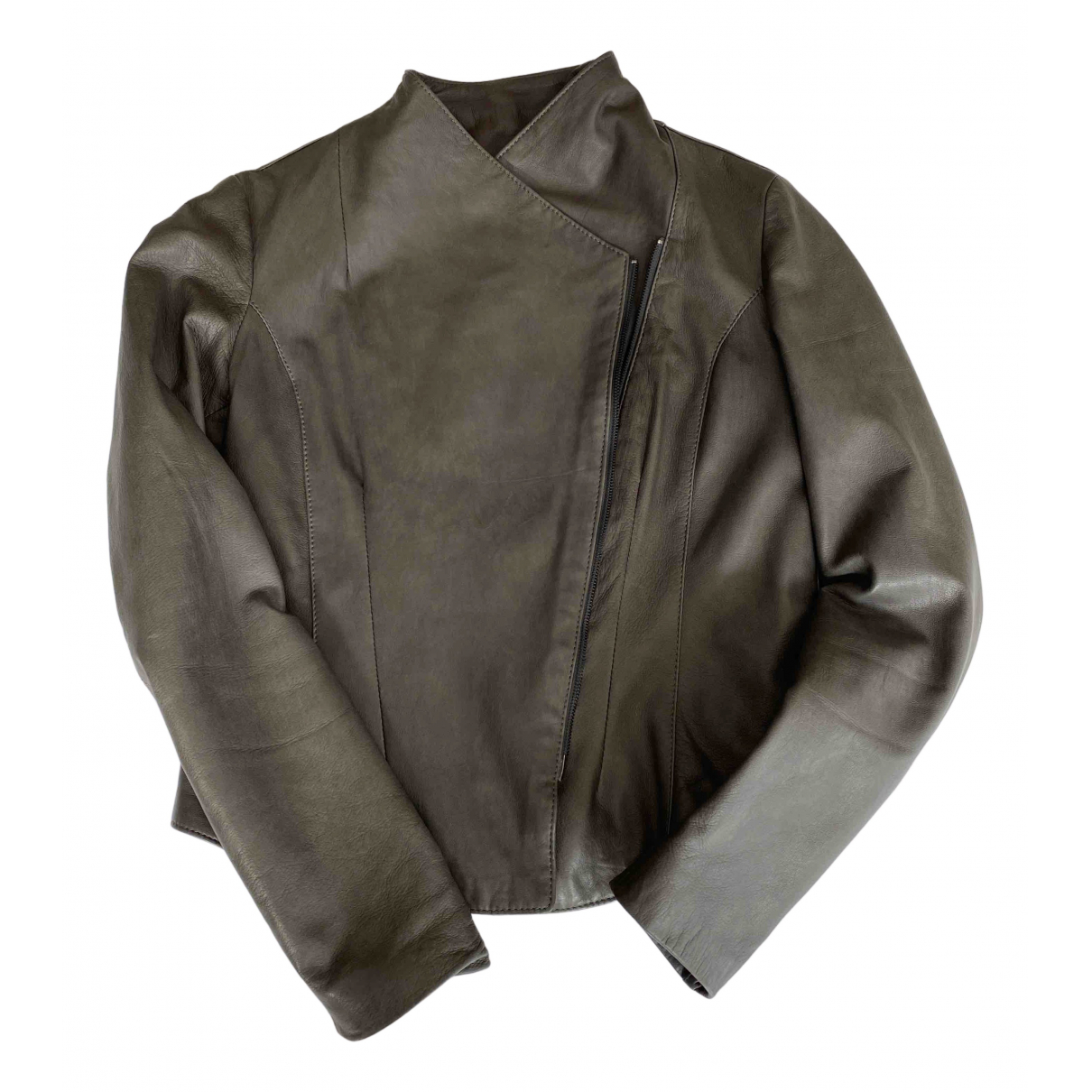 Impérial N Grey Leather jacket for Women M International