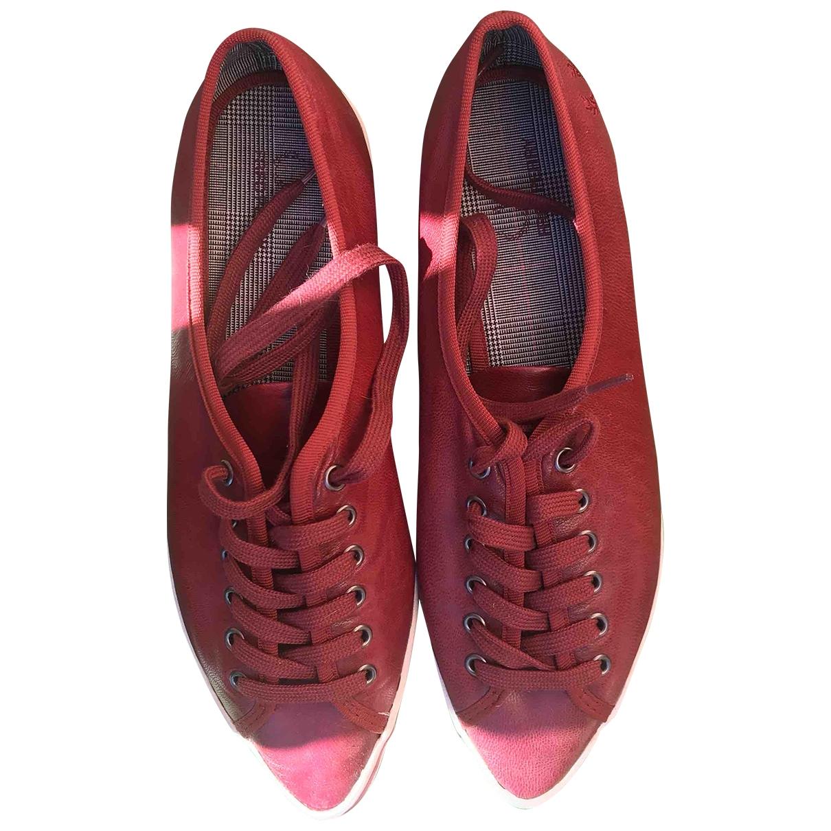 Fred Perry \N Sneakers in  Bordeauxrot Leder