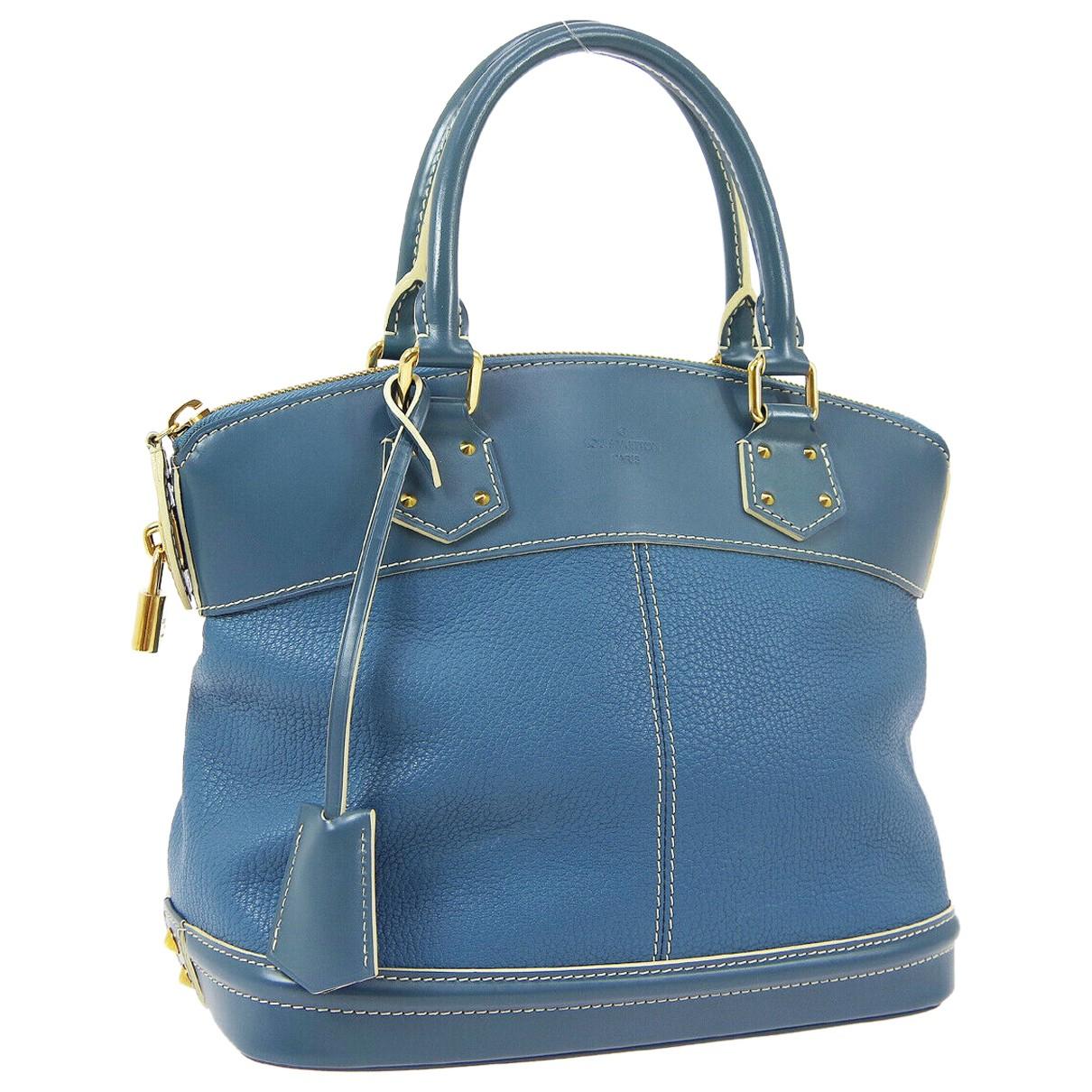 Louis Vuitton - Sac a main Lockit pour femme en cuir - bleu