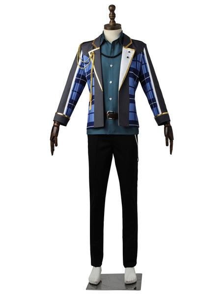 Milanoo The Animation Cosplay Costumes Kagurazaka Soushi Black Uniform Cloth Outfit
