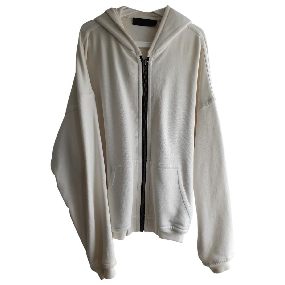 Haider Ackermann \N Pullover.Westen.Sweatshirts  in  Weiss Baumwolle
