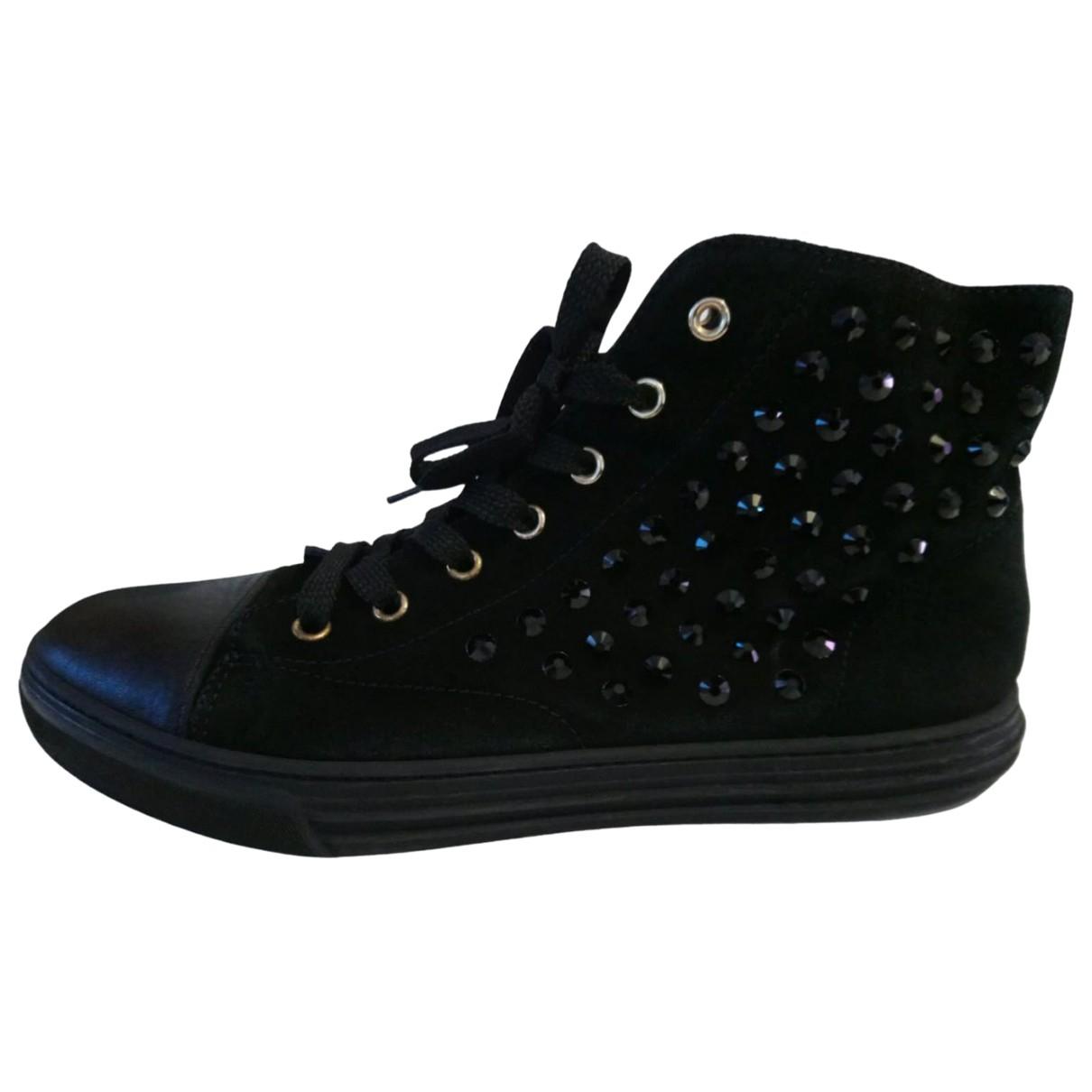 Gucci - Baskets   pour femme en suede - noir