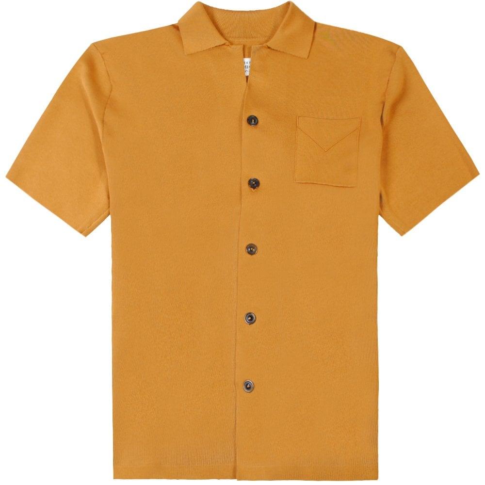 Maison Margiela Button Styled Polo Shirt Colour: Bronze, Size: EXTRA LARGE