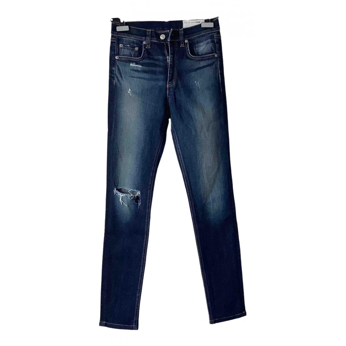 Rag & Bone \N Blue Cotton Jeans for Women 27 US