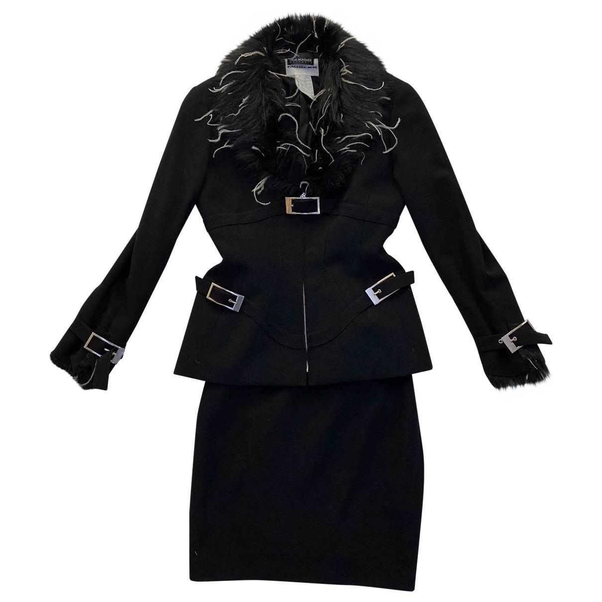 Thierry Mugler - Jupe   pour femme en laine - noir