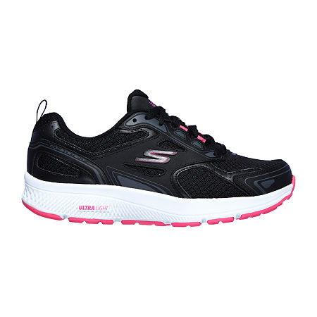Skechers Go Run Consistent Womens Running Shoes, 9 1/2 Medium, Black
