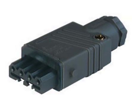 Lumberg Automation , ST IP54 Black Cable Mount 4P+E Industrial Power Socket, Rated At 10.0A, 230.0 V, 400.0 V