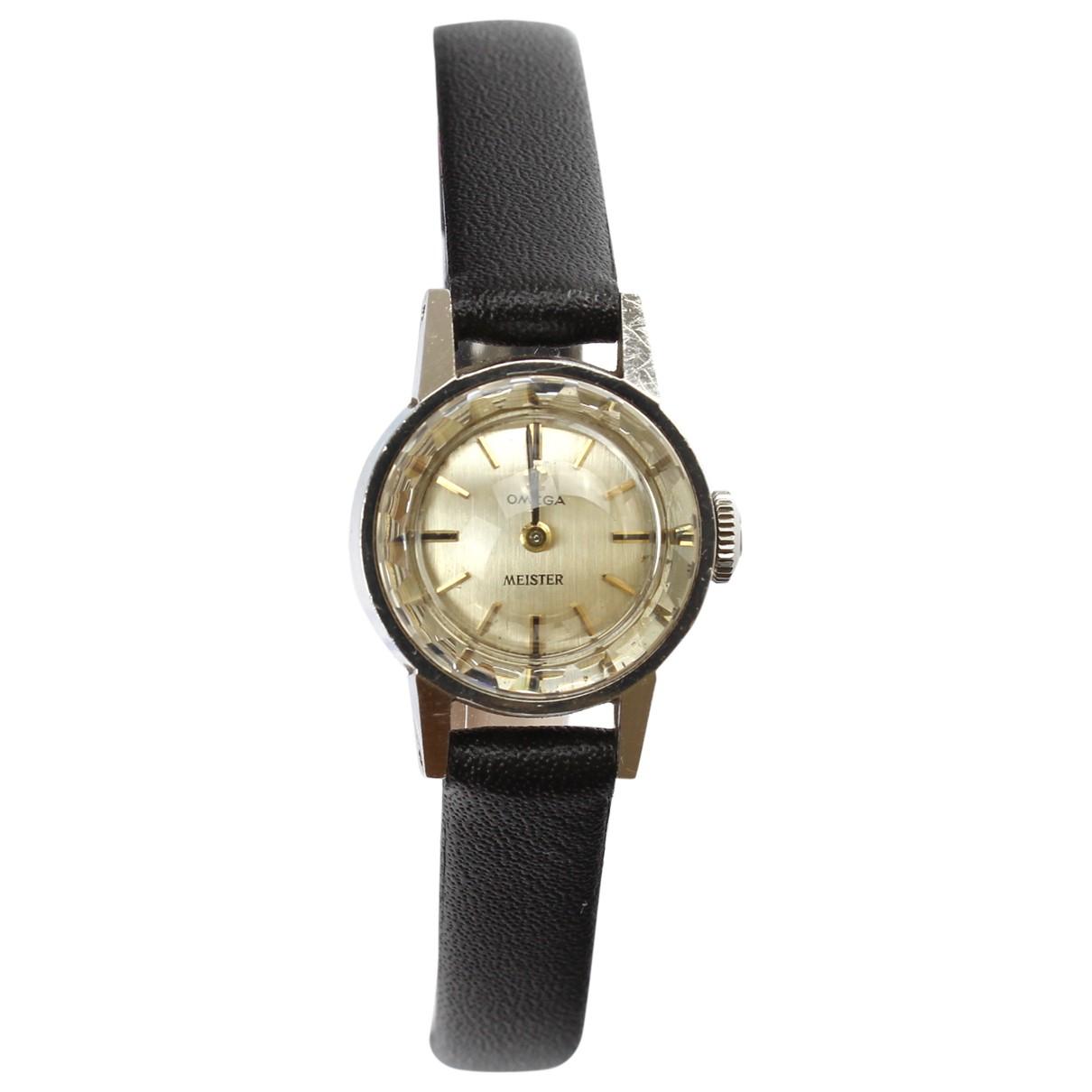 Omega \N Silver Steel watch for Women \N