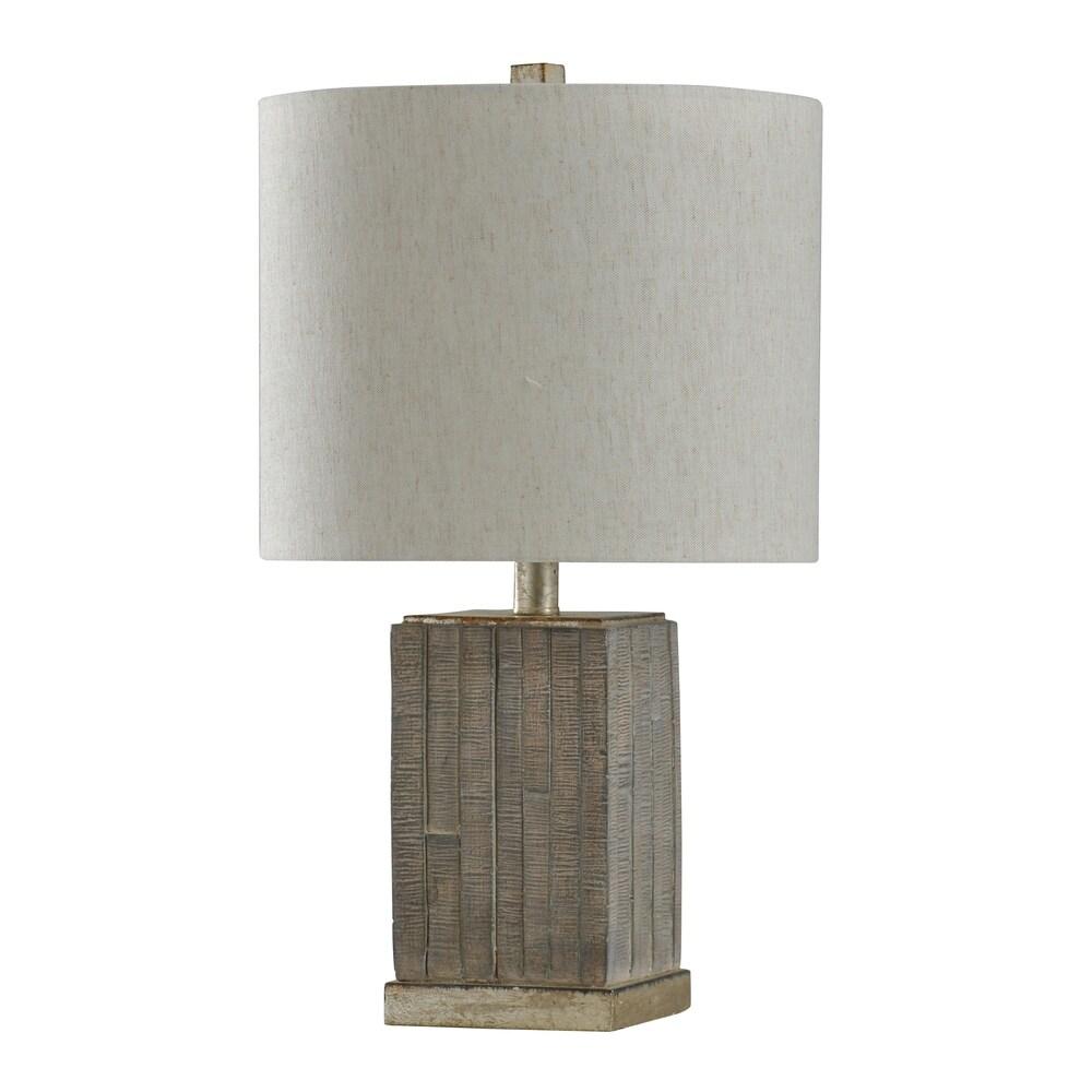 StyleCraft Seth Moroni Shelby Silver Table Lamp - Heavy White Shade (Moroni,Shelby Silver)