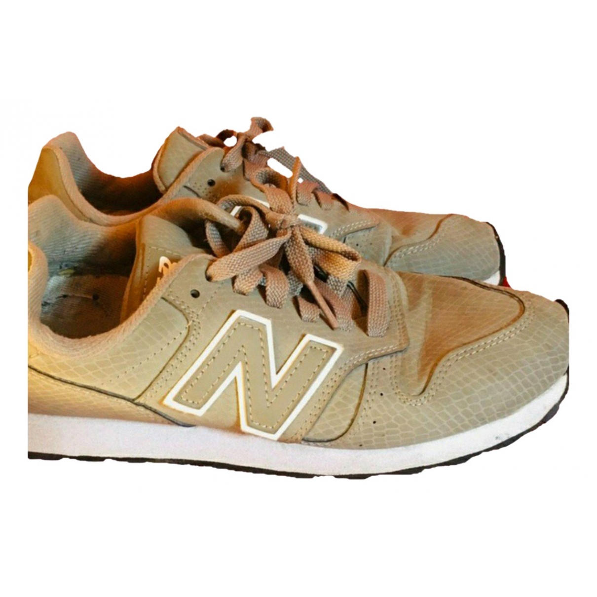 New Balance \N Grey Leather Trainers for Women 37 EU