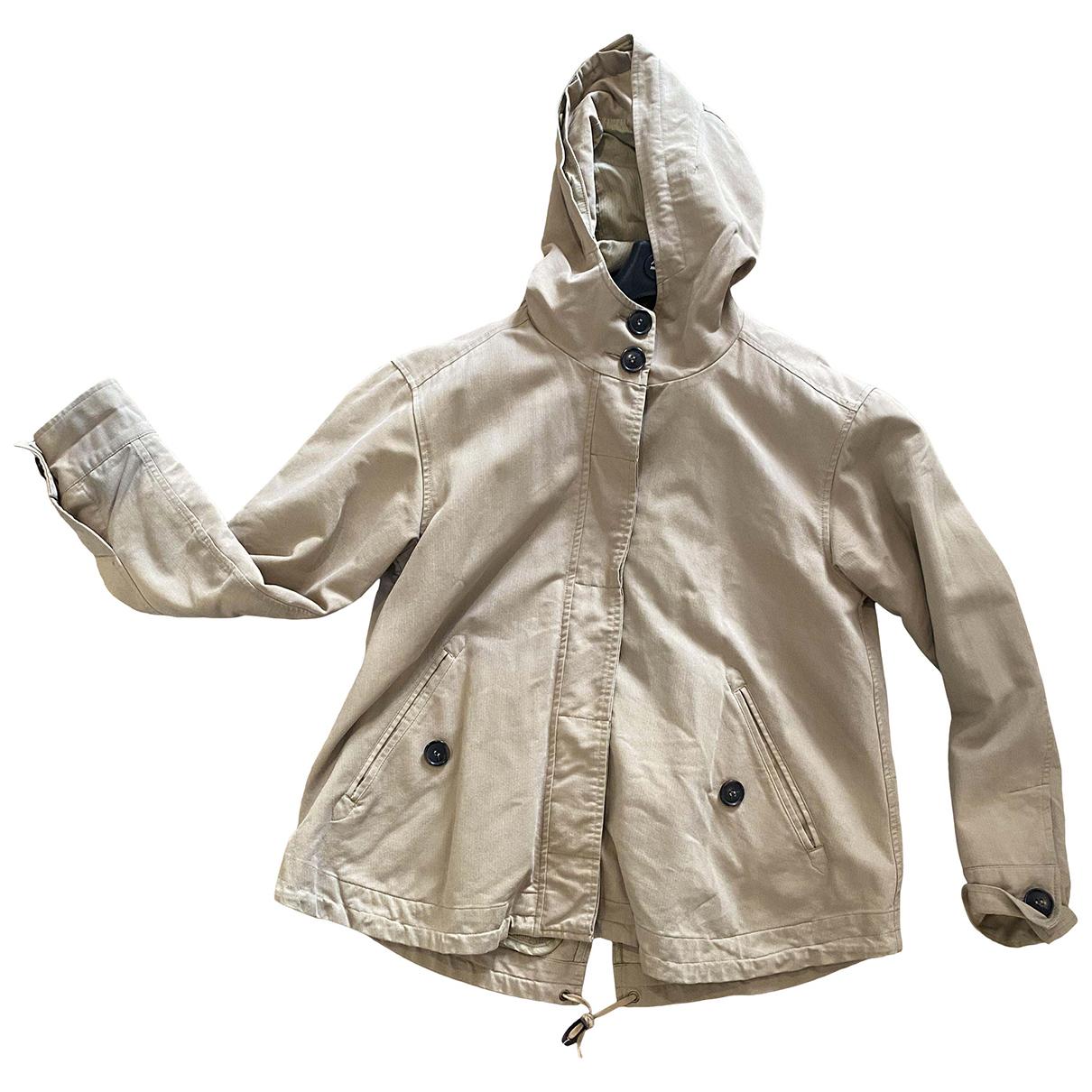Comptoir Des Cotonniers N Beige Cotton coat for Women 36 FR
