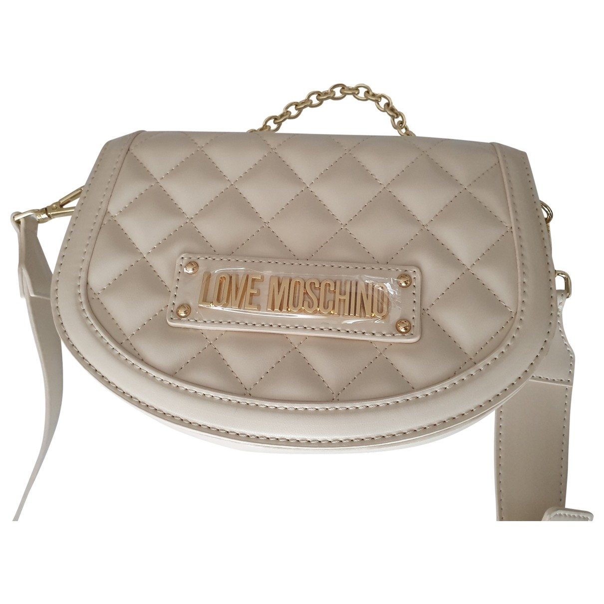 Moschino Love \N White Leather handbag for Women \N