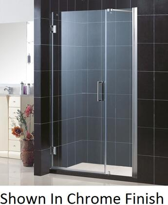 SHDR-20397210-04 Unidoor 39-40 In. W X 72 In. H Frameless Hinged Shower Door With Support Arm In Brushed