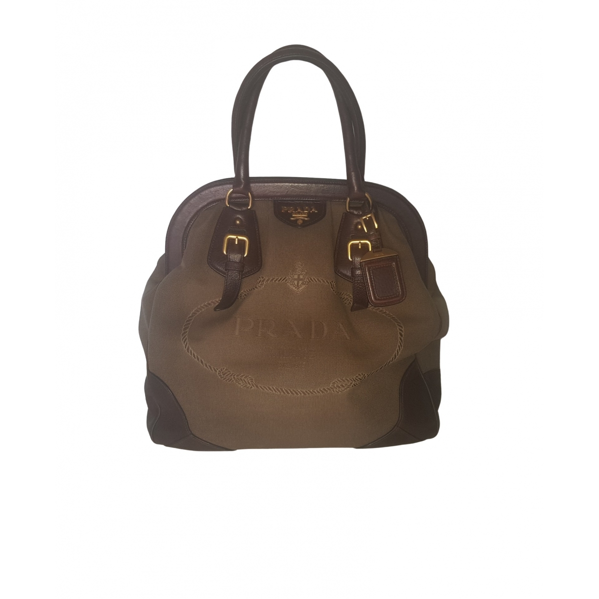 Prada \N Beige Cloth handbag for Women \N
