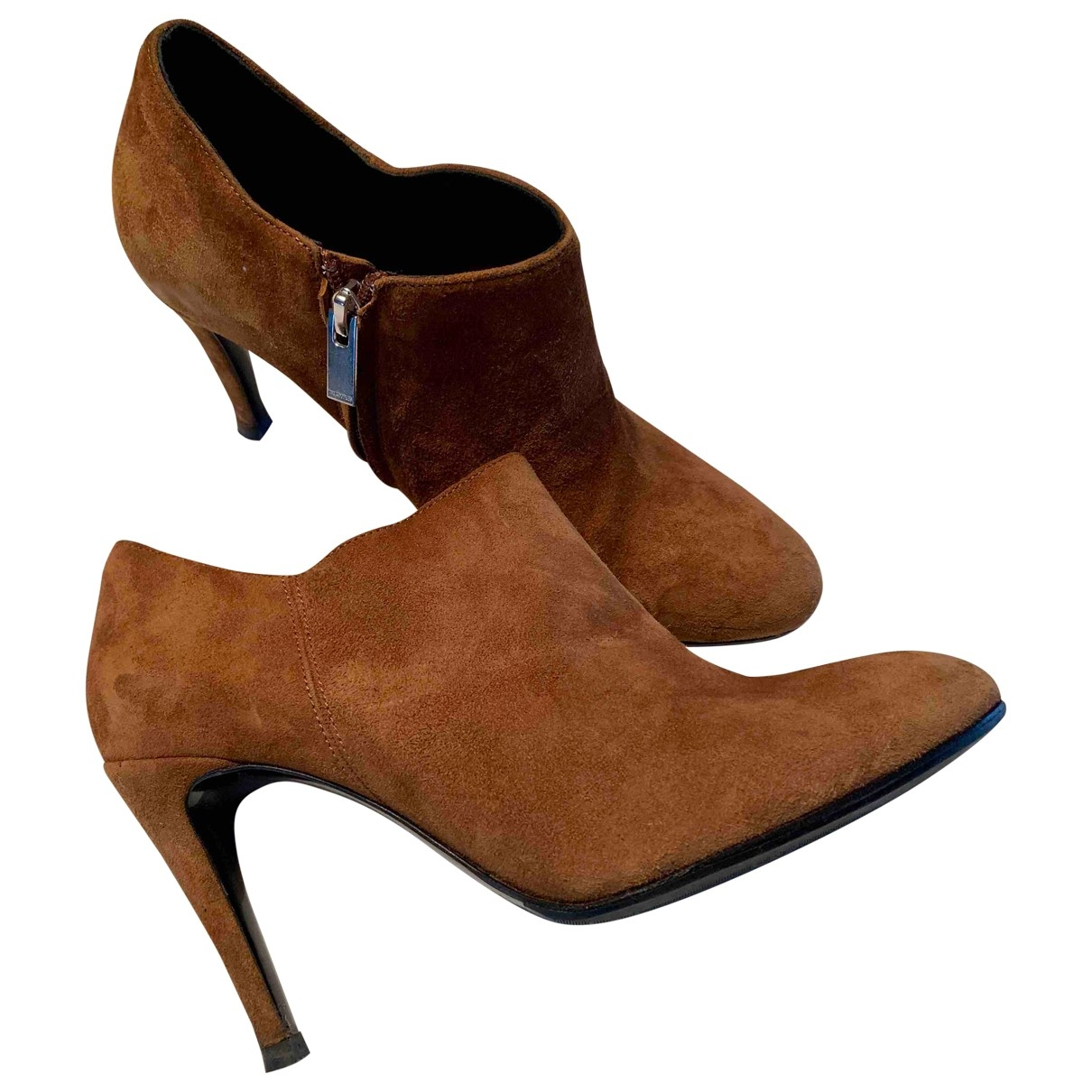 The Kooples \N Camel Suede Boots for Women 38 EU