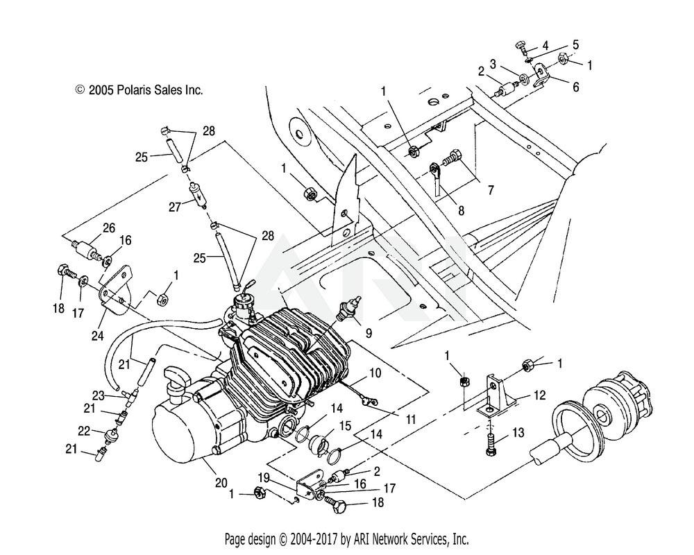 Polaris OEM 3022067 MOUNT, MOTOR