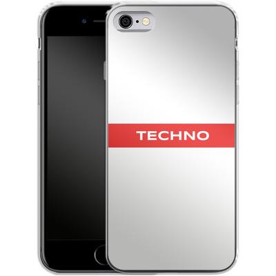 Apple iPhone 6s Silikon Handyhuelle - RED LINE von Berlin Techno Collective