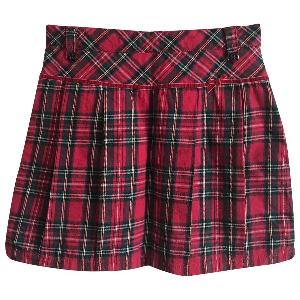 Non Signé / Unsigned \N Red Cotton skirt for Kids 14 years - S FR