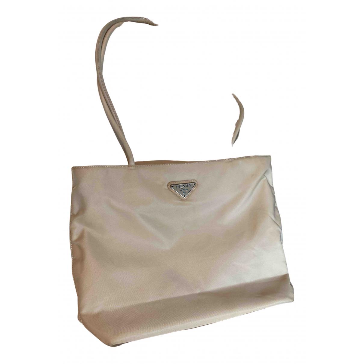 Prada Tessuto city Beige handbag for Women \N
