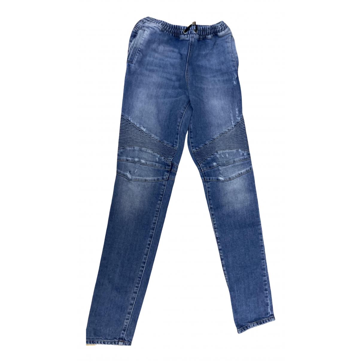Balmain - Pantalon   pour enfant en coton - bleu