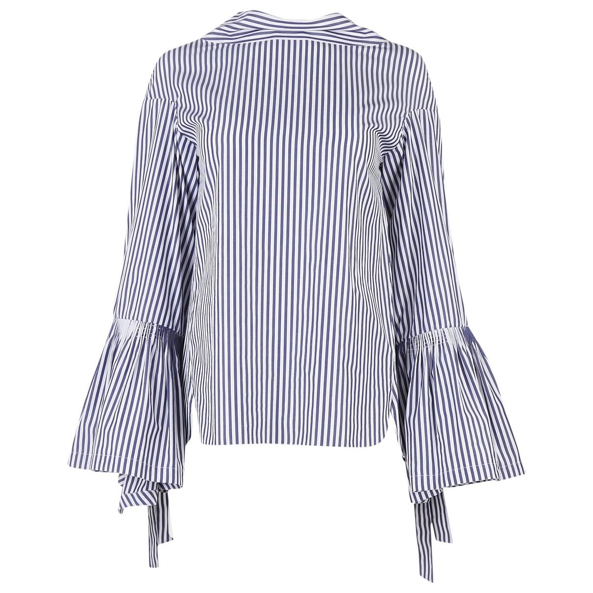Teija - Top   pour femme en coton - bleu