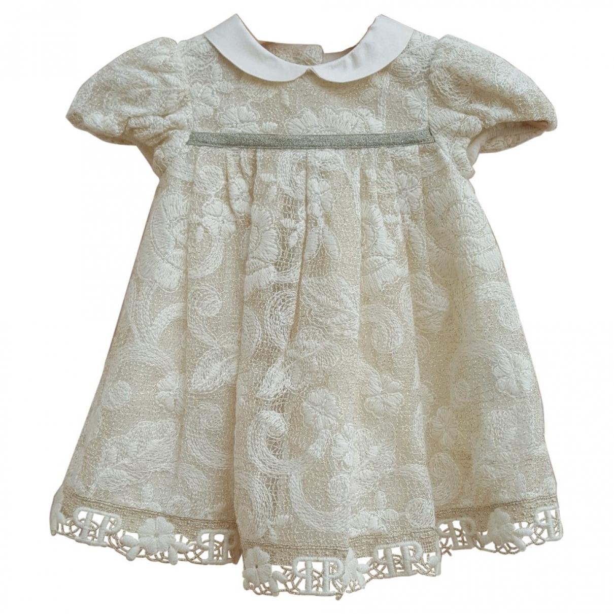 I Pinco Pallino \N Kleid in  Beige Wolle