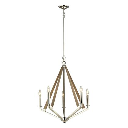 31475/5 Madera Collection 5 Light chandelier in Polished