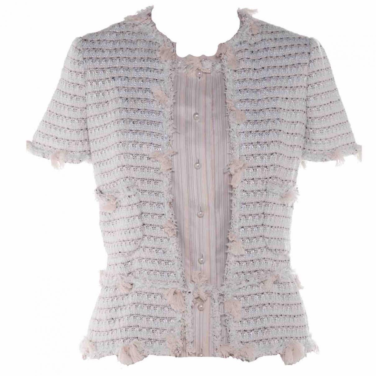 Chanel \N Blue Tweed jacket for Women 36 FR