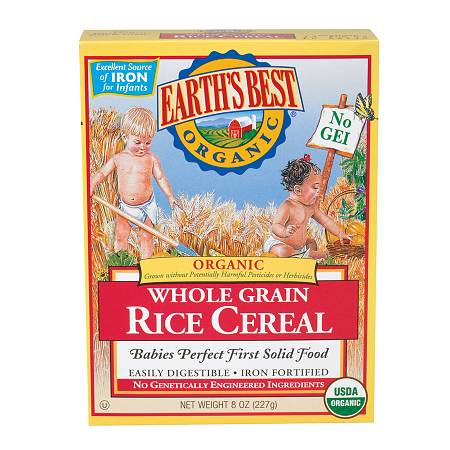 Earth's Best Organic Brown Rice Cereal - 8.0 oz