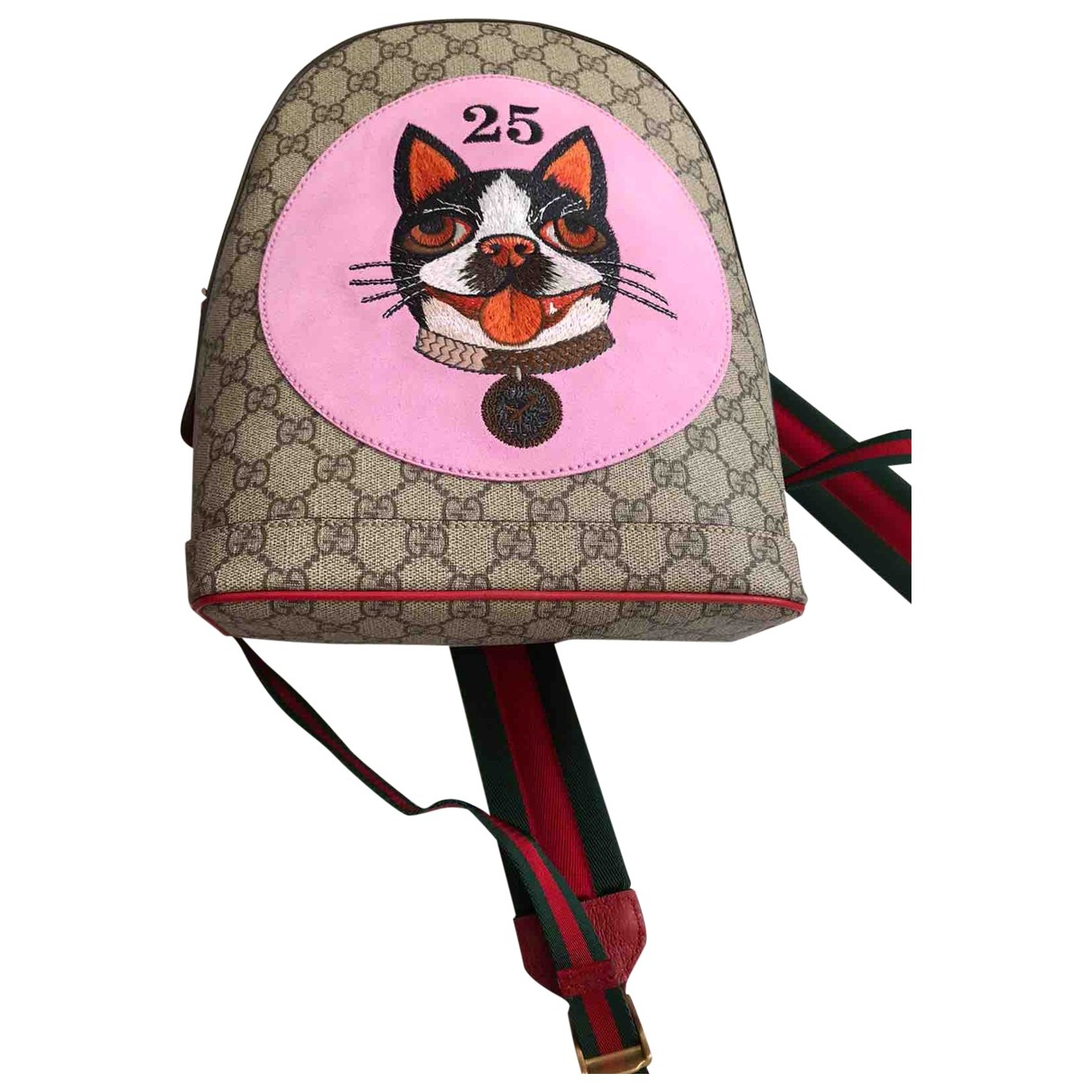 Gucci \N Beige Cloth backpack for Women \N