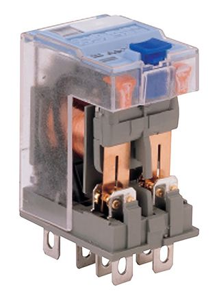 Turck , 24V dc Coil Non-Latching Relay DPDT, 6A Switching Current Plug In