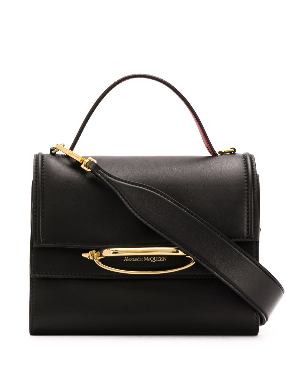 Small Double Flap Leather Bag