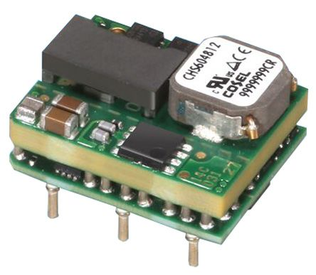 Cosel CHS 60W Isolated DC-DC Converter PCB Mount, Voltage in 36 → 76 V dc, Voltage out 5V dc