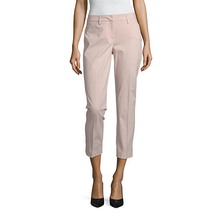 Worthington Parker Ankle Pant - Tall, 10 Tall , Pink