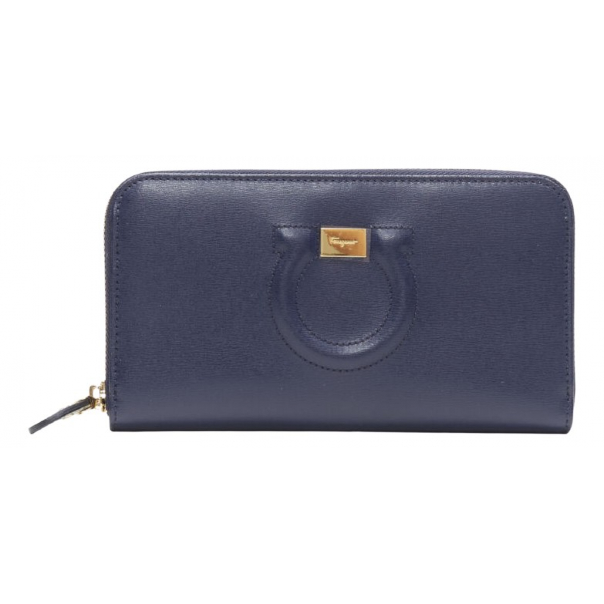 Salvatore Ferragamo N Blue Leather wallet for Women N