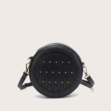 Studded Decor Crossbody Bag