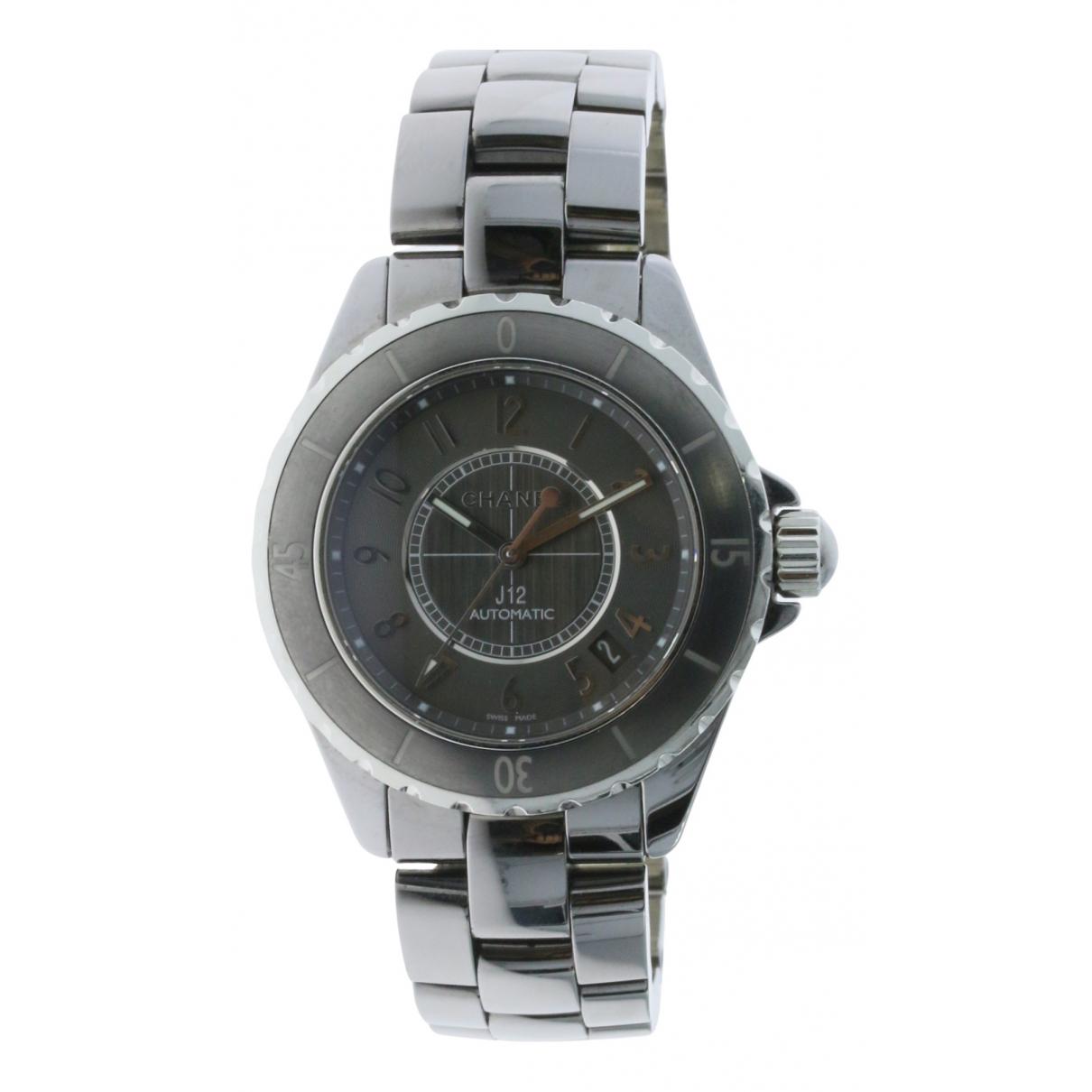 Chanel J12 Automatique Grey Ceramic watch for Men N