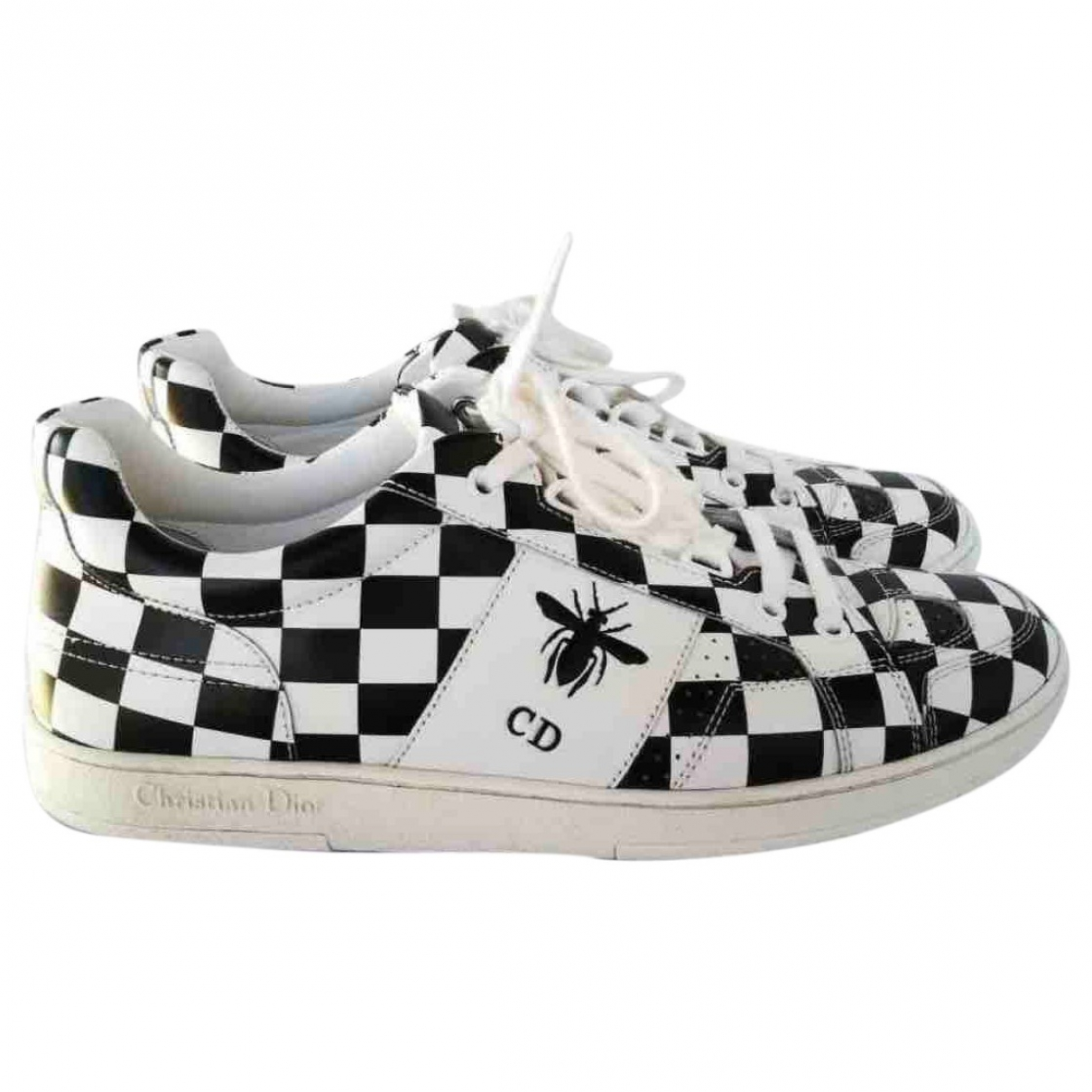 Dior Dior D-Bee White Leather Trainers for Women 38.5 EU