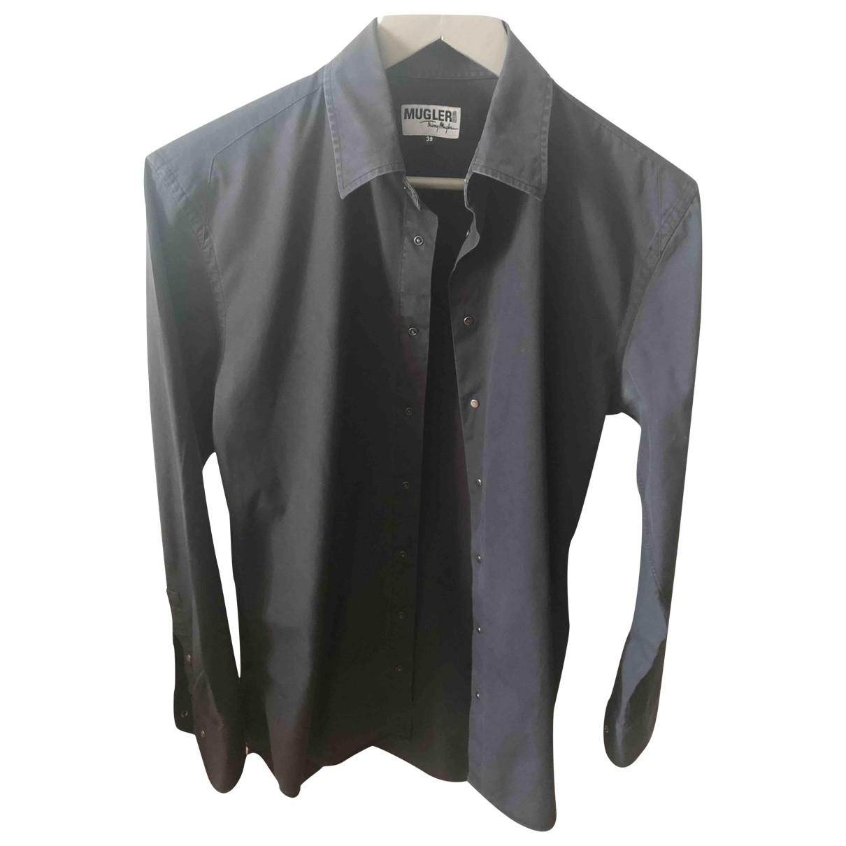 Thierry Mugler - Chemises   pour homme en coton - noir
