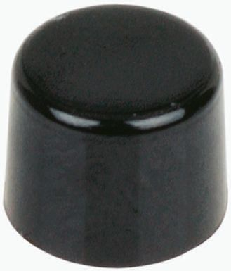 C & K Black Push Button Cap, for use with E020 Series (Sealed Snap-Acting Momentary Push Button Switch), Cap (5)