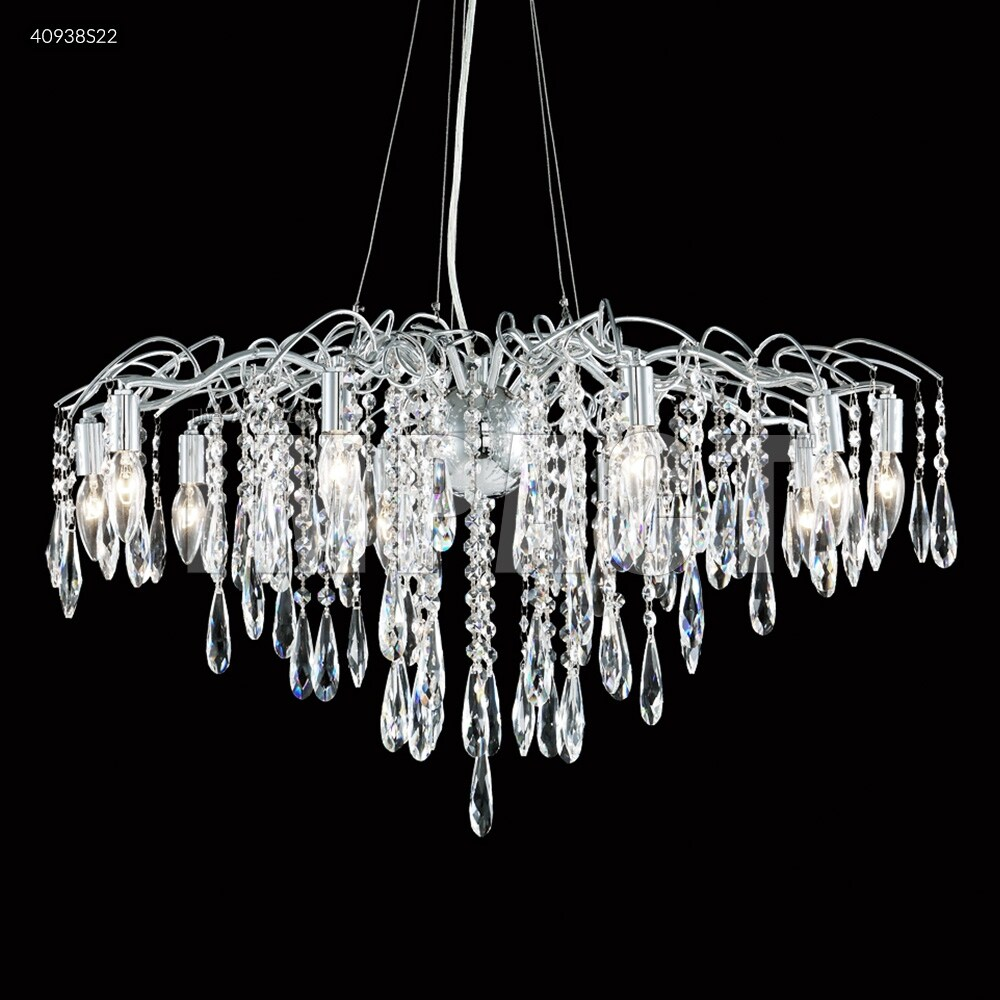 James R. Moder 40938S22 Ten Light Chandelier Contemporary Silver - One Size (One Size - Clear)