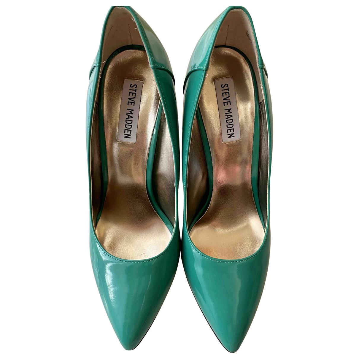 Steve Madden \N Green Patent leather Heels for Women 39 EU