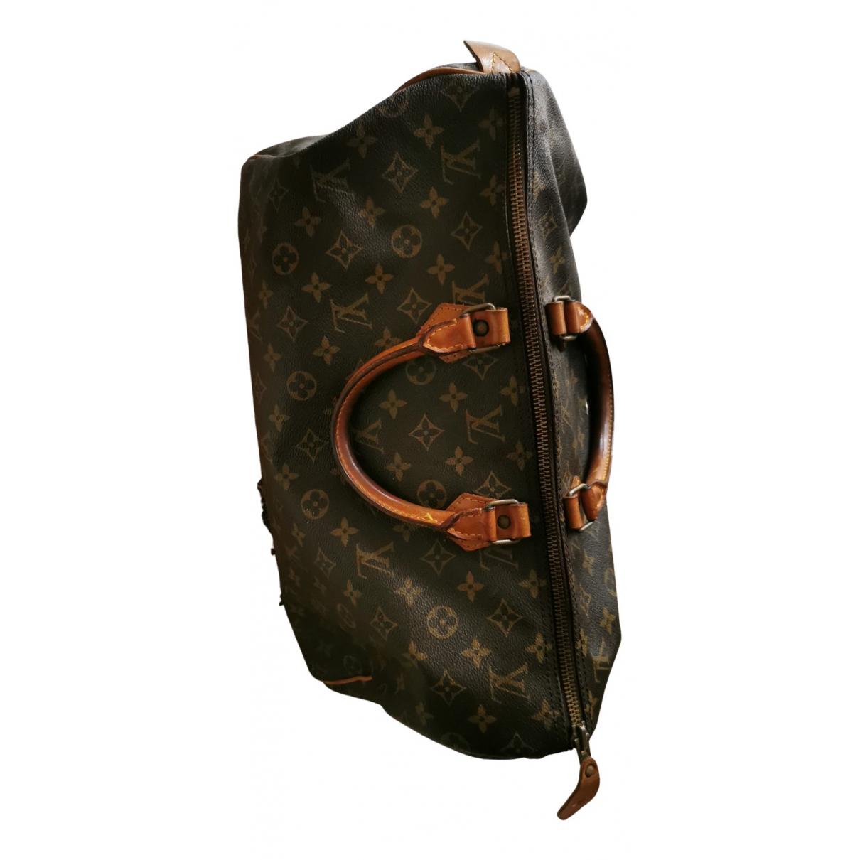 Louis Vuitton Speedy Handtasche in  Braun Leder