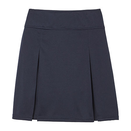 French Toast Little & Big Girls Elastic Waist Scooter Skirt, X-large , Blue